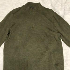 J. Crew. Quarter zip sweater.